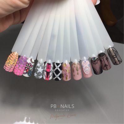 Wzory ze szkolenia Colour Gel Mix Nail Art